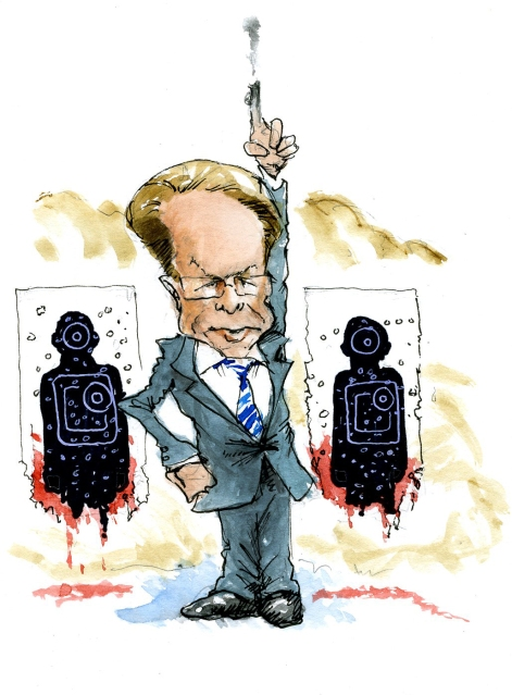 The NRA chief likes to shoot off more than his mouth